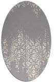 rug #1330300 | oval white traditional rug