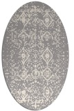 rug #1330320 | oval white faded rug