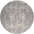 rug #1330328 | round white faded rug