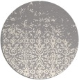 rug #1330348 | round white faded rug