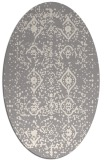 rug #1330360 | oval white faded rug