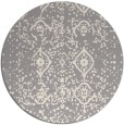 rug #1330368 | round white faded rug