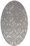 rug #1330380 | oval white faded rug