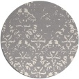 rug #1330388 | round white traditional rug