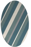 rug #1330420 | oval beige stripes rug