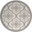 rug #1330468   round beige damask rug