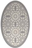 rug #1330480   oval beige borders rug