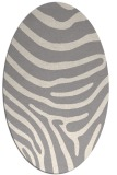 rug #1330500 | oval beige animal rug
