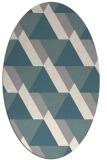 rug #1330560   oval white geometry rug