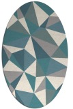 rug #1330580 | oval white geometry rug