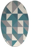 rug #1330640 | oval white geometry rug