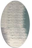 rug #1330940 | oval beige abstract rug
