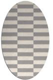 rug #1331040 | oval white check rug