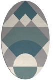 rug #1331100 | oval white abstract rug