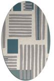 rug #1331180 | oval beige popular rug