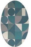 rug #1331200   oval beige circles rug