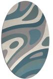 rug #1331260   oval white abstract rug