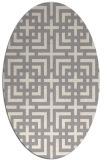 rug #1331280 | oval white check rug