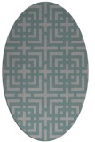 rug #1331283 | oval check rug