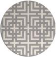 rug #1331288   round beige check rug