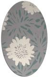 rug #1331360 | oval white natural rug