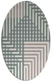 rug #1331420 | oval beige check rug