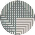 rug #1331428 | round beige check rug