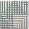 rug #1331436 | square white check rug