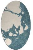 rug #1331440   oval white abstract rug