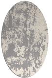 rug #1331460 | oval white abstract rug