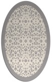 rug #1331520 | oval white borders rug