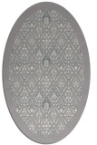 rug #1331540 | oval white traditional rug