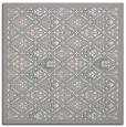 rug #1331556 | square white damask rug