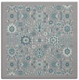 rug #1331596 | square white damask rug