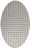 rug #1331620 | oval white stripes rug