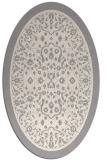 rug #1331760 | oval white borders rug