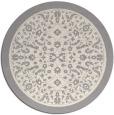 rug #1331768 | round beige damask rug