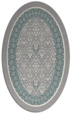 rug #1331780 | oval white borders rug