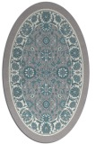rug #1331800 | oval white traditional rug