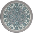 rug #1331808 | round beige damask rug