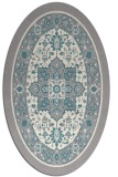 rug #1331820 | oval white borders rug