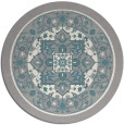 rug #1331828 | round white borders rug