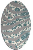 rug #1331840 | oval abstract rug