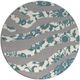 rug #1331848 | round white abstract rug