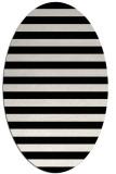rug #163501 | oval white stripes rug