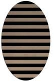 rug #163509 | oval black stripes rug
