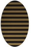 rug #163517 | oval brown stripes rug