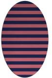 rug #163589 | oval blue-violet stripes rug