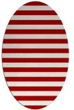rug #163737 | oval red retro rug