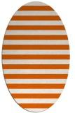 rug #163765   oval red-orange rug